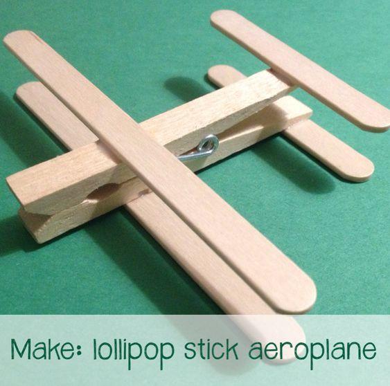 Lollipop Stick Aeroplane @Sara Murray