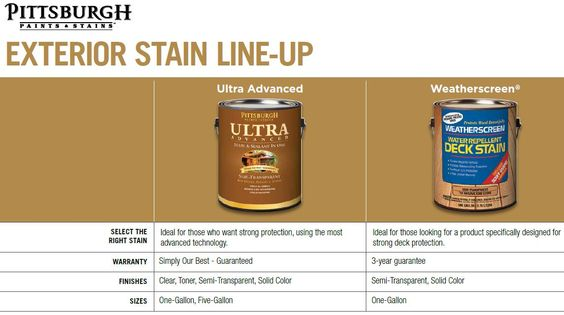 exterior stain products by pittsburgh paints and stains