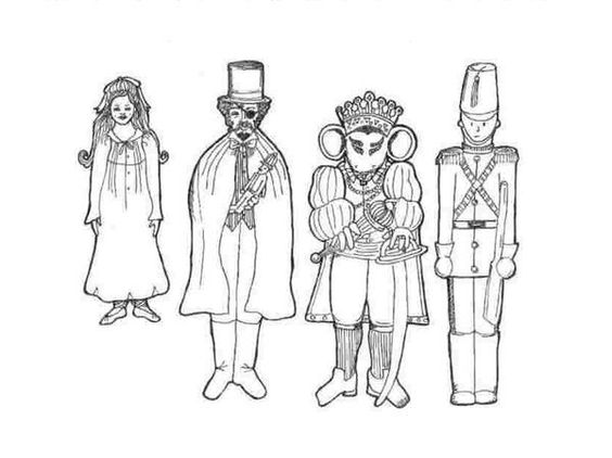 nutcracker suite coloring pages free - photo#23