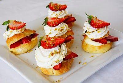 Strawberry Cream Puffs with Grand Marnier Custard Filling