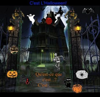 This is a Smartboard Notebook File.  You must have Smart Notebook software to open this file.There are 6 pages in this lesson.  The first includes Halloween vocabulary and mp3 sound.  Students click on the picture and hear the word.  The second is a matching game and the third is a click and reveal game.