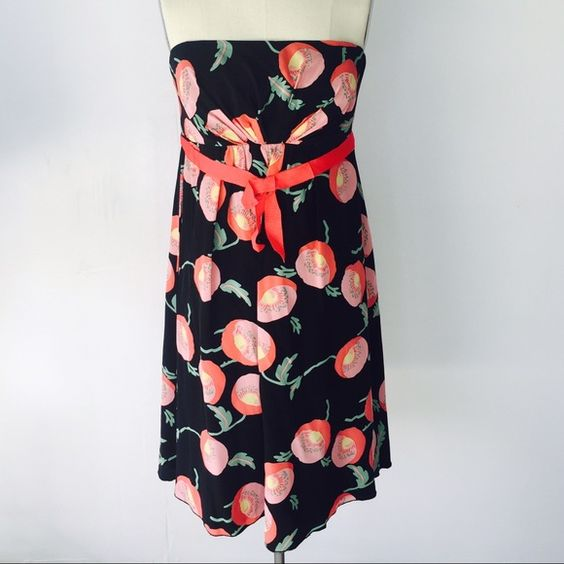 Anna Sui for Anthropologie Silk Cocktail Dress 8 In great condition. Back zipper. 100% Silk. Inner lining. Anna Sui Dresses Midi