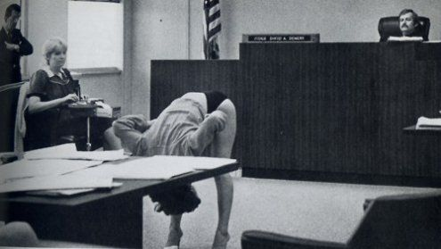 Stripper in Clearwater, FLA showing the judge that her bikini briefs were too large to expose her vagina to the undercover cops that arrested her, the case was dimissed