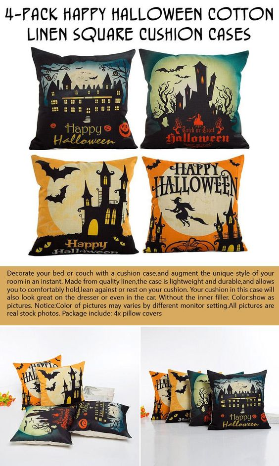 4-pack-happy-halloween-cotton-linen-square-cushion-cases