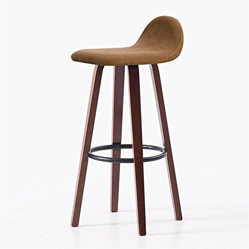 Yd Bar Chairs Home Kitchen Breakfast Dining Chairs Solid Wood Seat Highchair With Backrest Barstool Stool Simple Ir Bar Stool Chairs Bar Stools Wood Bar Stools
