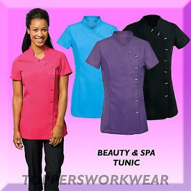 New premier spa beauty salon beautician tunic nail massage for Spa uniform patterns