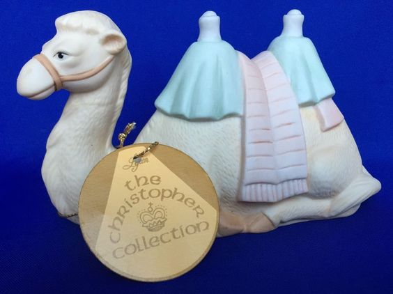 Christopher Collection Lefton Nativity Camel 1984 Hand Painted China Vintage #Lefton