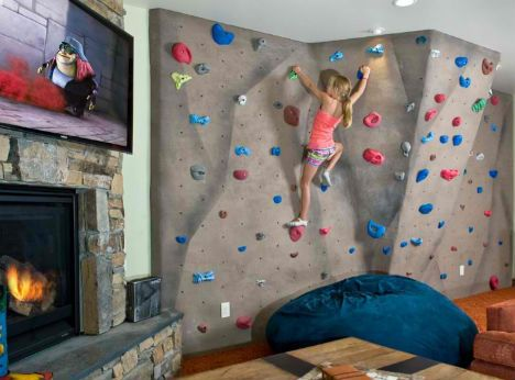 Domestic daredevils 12 insanely cool home climbing walls for Home climbing