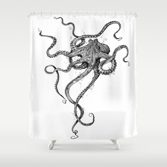 Octopus Shower Curtain: