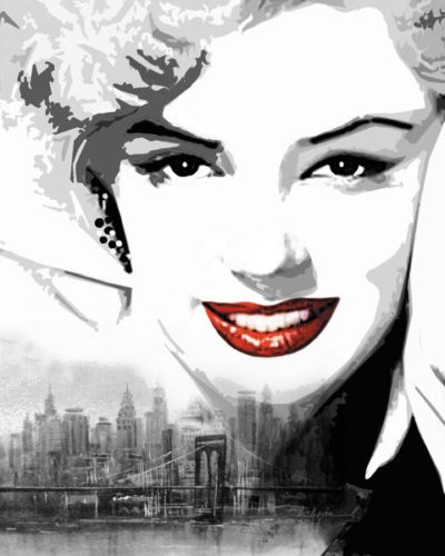 Aragon-Marilyn-Monroe-New-York-I-Fertig-Bild-40x50-Wandbild-Kult-Film-Star