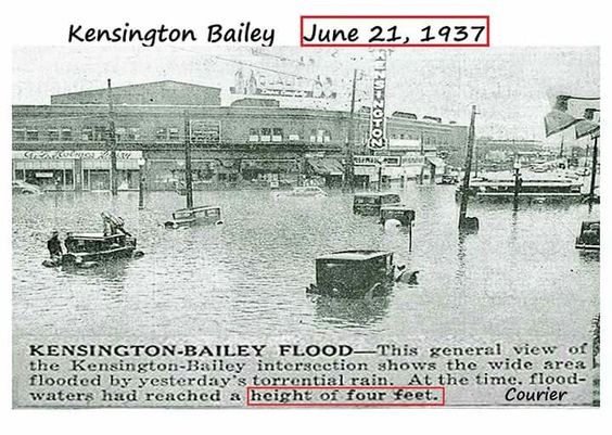 Kensington bailey flood 1937
