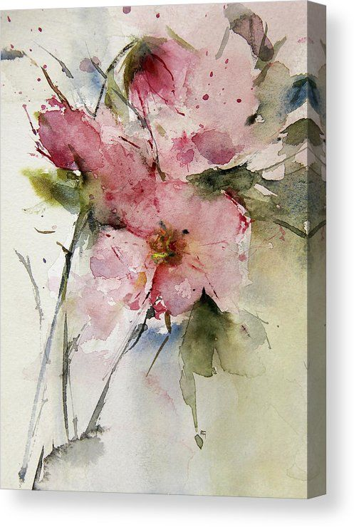 Roses Canvas Print Canvas Art By Annemiek Groenhout Watercolor