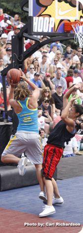 Hoopfest! The world's largest 3-on-3 street basketball tournament in Spokane.