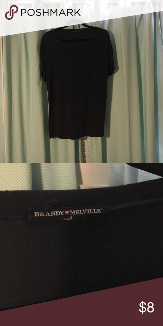 Brandy Melville Navy Shirt Brandy Melville shirt. Super soft and not worn very often! Has slight pilling which is reflected in the price Brandy Melville Tops