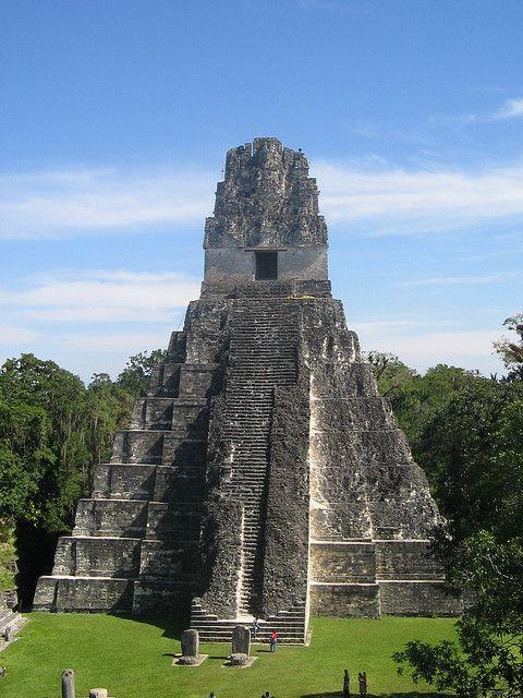 Grand Jaguar Pyramid at Tikal mayan ruins - Guatemala