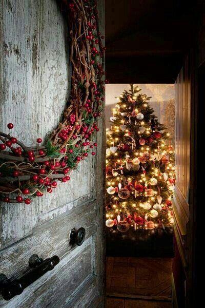 Welcome to Christmas Christmas Pinterest Portes, Noël rustique - decoration pour porte d interieur