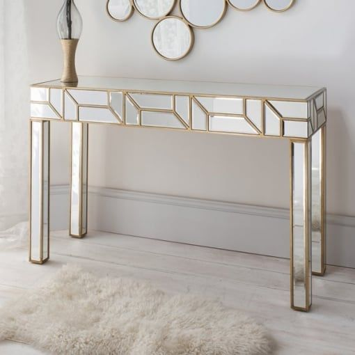 Mirrored Console Table, Mirrored Hall Table Australia