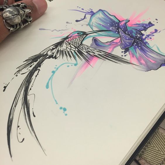 25 Stunning Watercolor Hummingbird Tattoo Meaning and Designs…