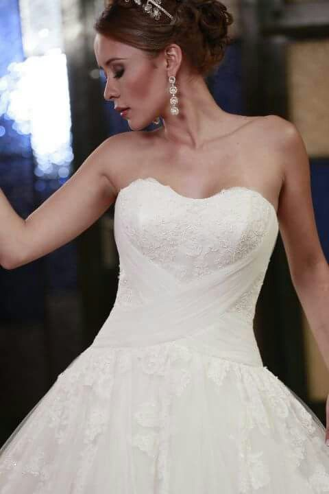 corpiño de novia escote corazon