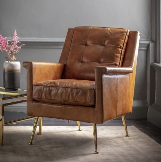 Troubadour Saddle Leather Wood Frame Chair Reviews Cb2 Brown Leather Chairs Modern Accent Chair Leather Armchair
