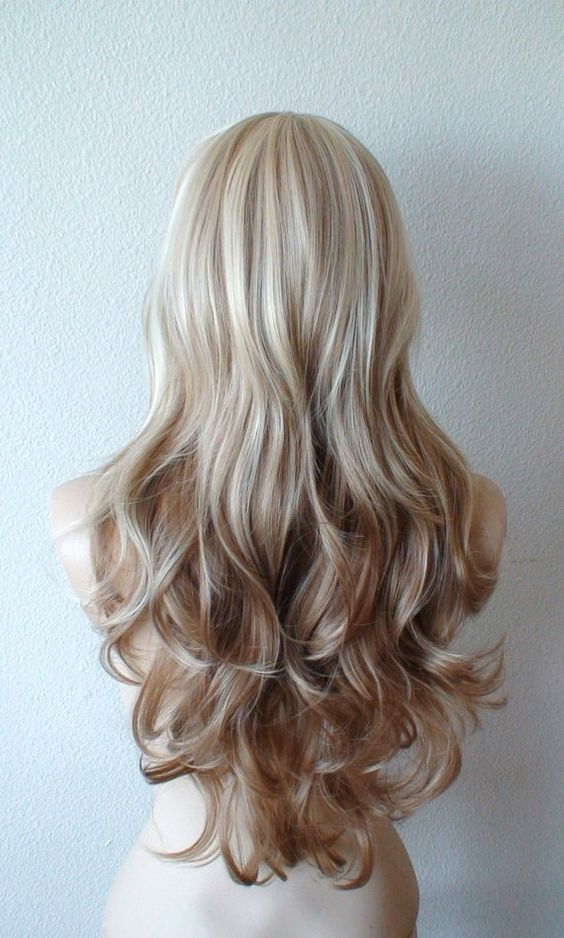 Summer Special // Platinum blonde / Brown Ombre wig. by ...