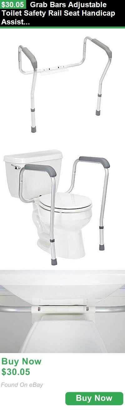 Handles and Rails 171537 Grab Bars Adjustable Toilet Safety Rail