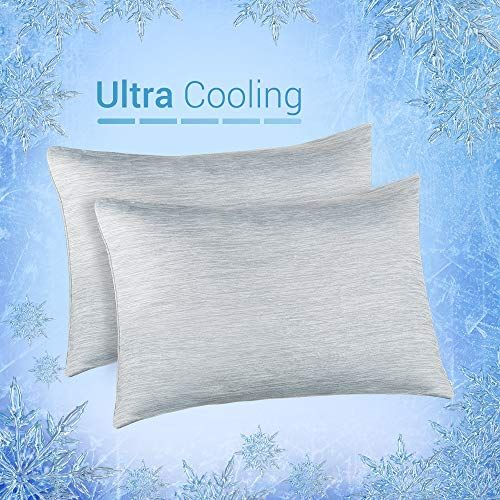 Elegear Cooling Pillowcases For Night Sweats And Hot Flashes Japanese Q Max 0 4 Cooling Fiber Breathable Soft Both In 2020 Fun Pillow Cases Pillows Best Pillow