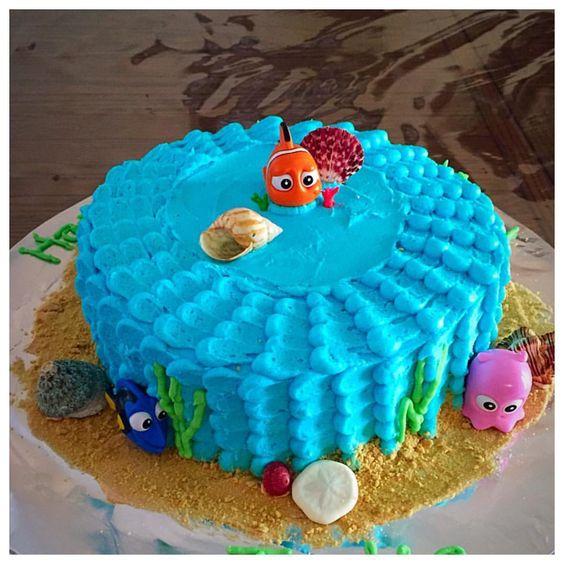 Nemo Cake: Finding Nemo Cake Buttercream Frosting