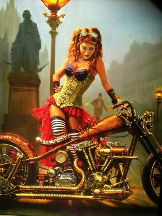 Steampunk And Biker Chick On Pinterest