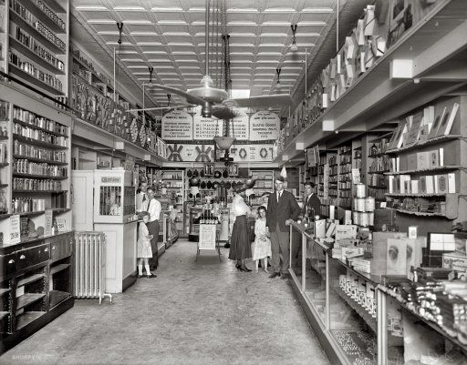 "1920s Storefronts | Low Prices: 1920 Washington, D.C., 1920 or 1921. ""People's Drug Store ..."