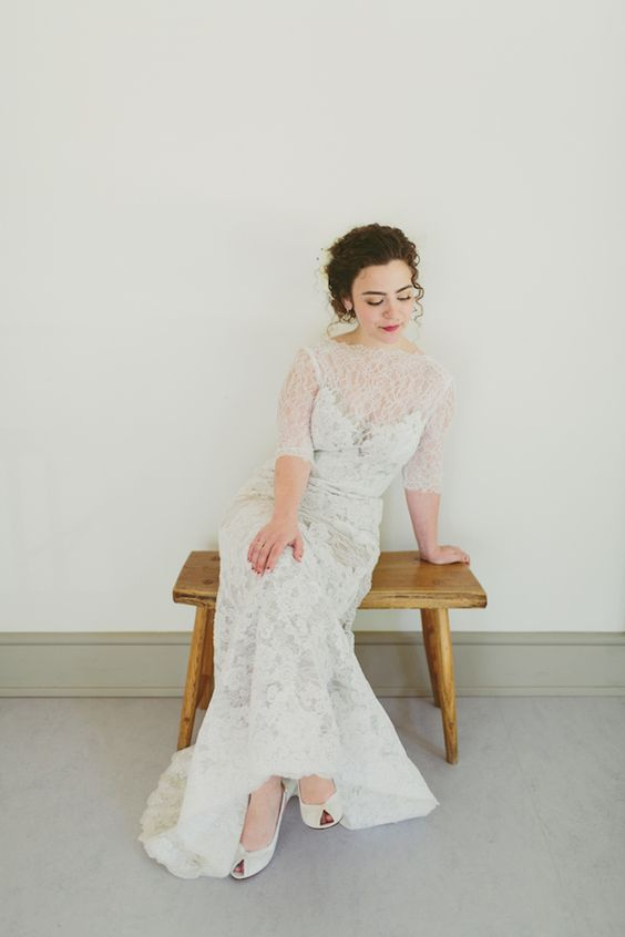 Sarah & Jacob // Dress by Watters from Lovely Philly // Photo by Katch Silva