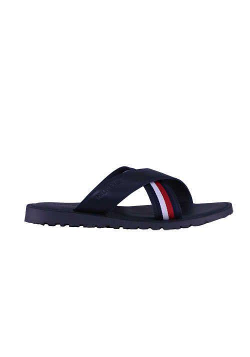 Tommy Hilfiger Sandalen Criss Cross Leder Nachtblau Mit Bildern Tommy Hilfiger Sandalen Schuhe Online Kaufen Herrenschuhe
