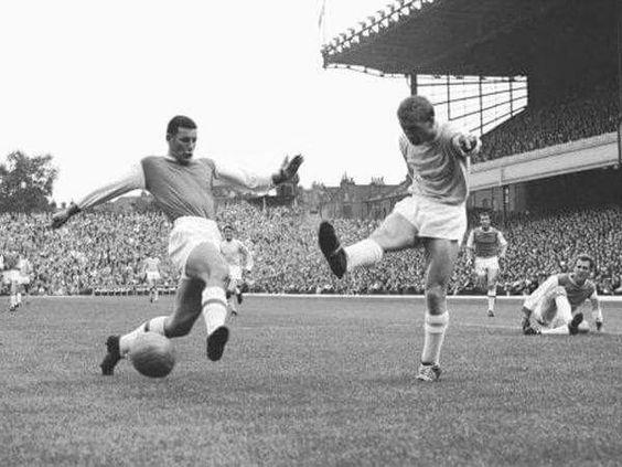 Arsenal - Manchester City at Highbury 1961 Terry Neill - Peter Dobing