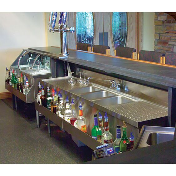 Front of bar equipment layout google search terrace