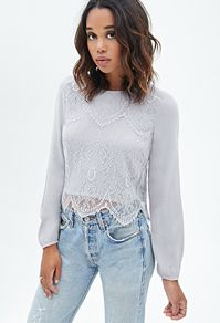 lace woven top♥ | Forever 21