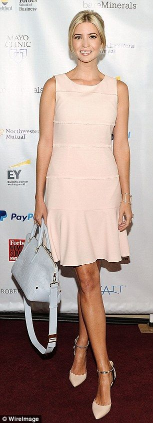 Business woman: Ivanka Trump showed up in style...