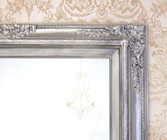 Many sizes available white framed bathroom mirror framed for Baroque bathroom mirror