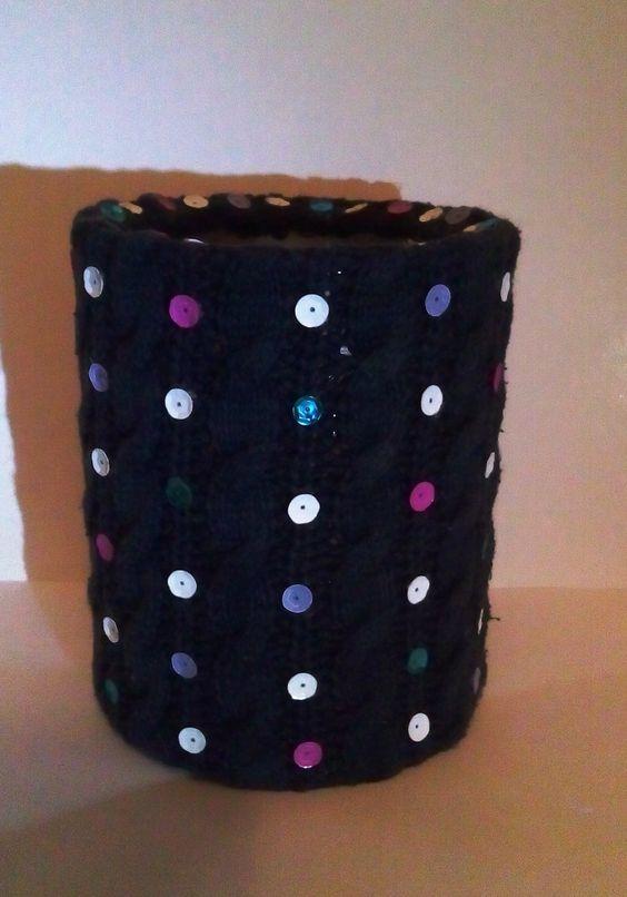 кутия - плетиво и пайети