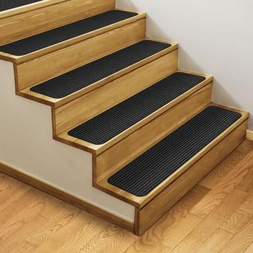 Skid Resistant Double Ribbed Carpet Stair Treads Smokey Black In 2020 Carpet Stair Treads Stair Treads Indoor Carpet