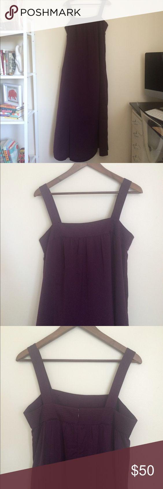 Eggplant purple maxi dress