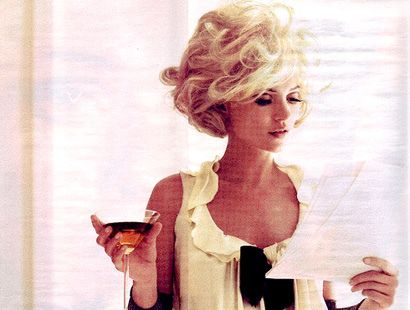 kate moss and a martini