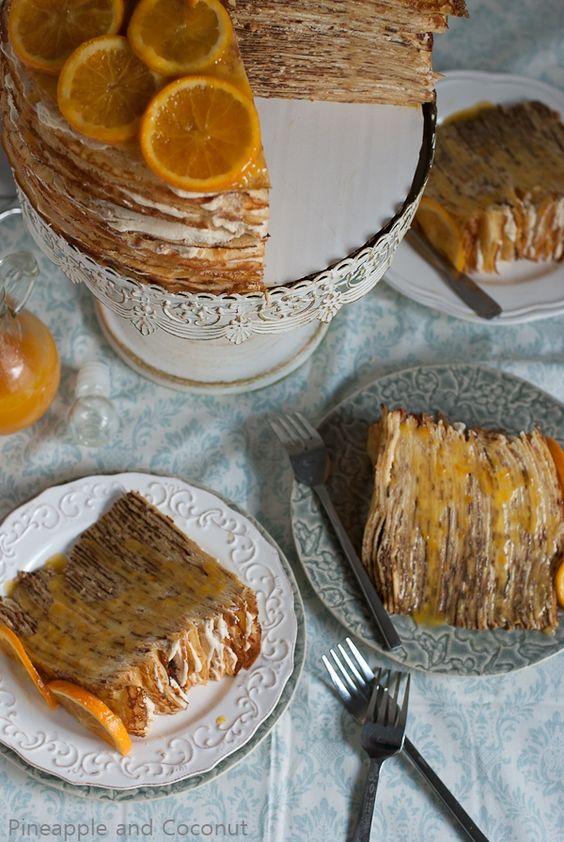 Crêpe Suzette Crêpe Cake