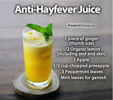 Forget Antihistamine Meds and Steroid Nasal Sprays - Make Your Own Natural Anti-Hayfever Juice