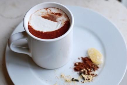 Steamy Chai Spiced Hot Chocolate