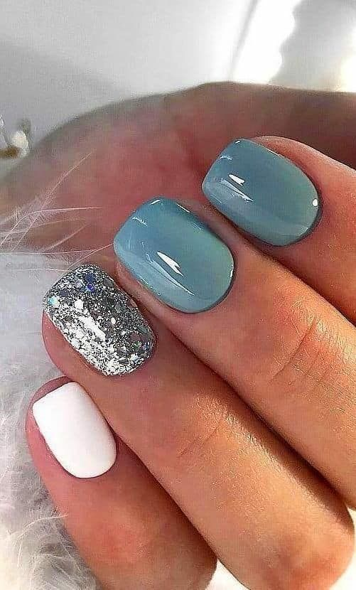 50 White Nail Art Design For 2020 In 2020 Short Acrylic Nails Stylish Nails Nail Colors