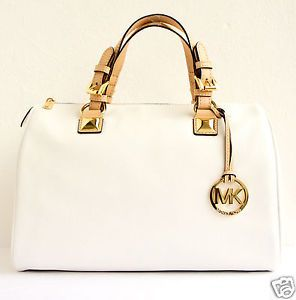 Michael Kors Tasche/Handtasche/Bag MK GRAYSON LG SATCHEL Leder Optic White NEU!