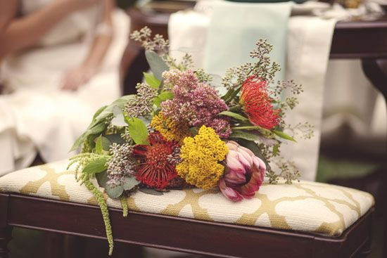 wild flower bouquet  A Vintage Farm Styled Session | The Lovely Find