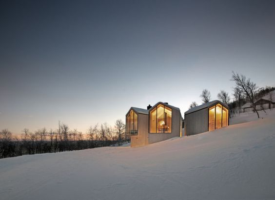 Contemporary + Cool Mountain Lodge By Reiulf Ramstad Arkitekter