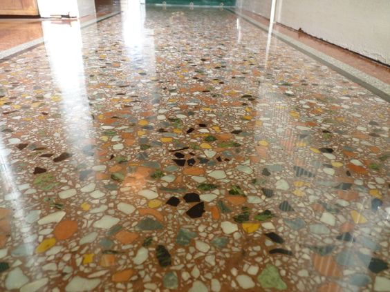 Residential terrazzo flooring pictures at 1280 960 for Polished concrete cleaning products