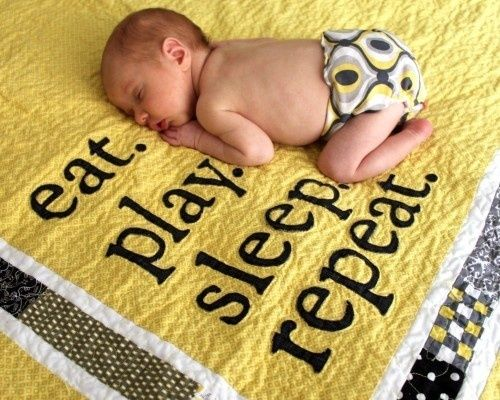 CUTE!!-this may be the next baby quilt I make just b/c it is funny and true.